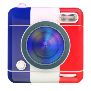 Camera icon Frenchの写真素材 [FYI00775696]