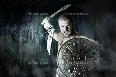 Gladiator warriorの写真素材 [FYI00775746]