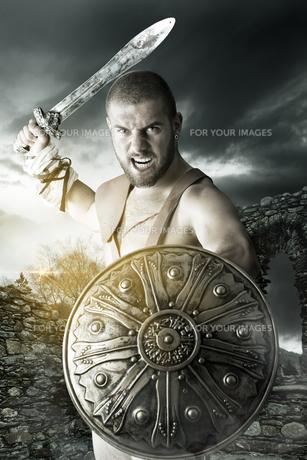 Gladiator warriorの写真素材 [FYI00775751]