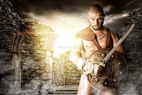Gladiator warriorの写真素材 [FYI00775780]