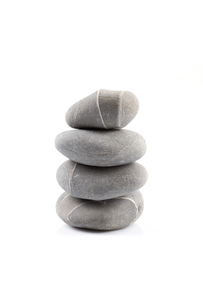 Pyramid of stones over whiteの写真素材 [FYI00776238]