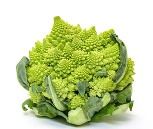 Green Fresh Romanesque Cauliflowerの写真素材 [FYI00776393]