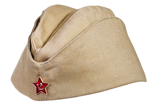 military field cap with soviet red star isolatedの写真素材 [FYI00776411]