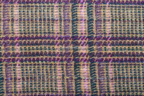 background from green, brown, violet woolen tissueの素材 [FYI00776488]