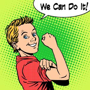 Boy power confidence we can do itの素材 [FYI00776560]