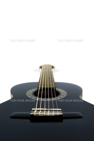 Detail of Classical Acoustic Guitar Isolated on a White Backgroundの素材 [FYI00776565]