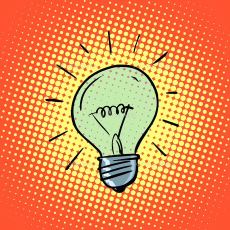 Light bulb electricity symbol ideasの素材 [FYI00776583]
