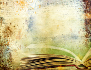 Vintage background with old books. Back to school conceptの素材 [FYI00776595]