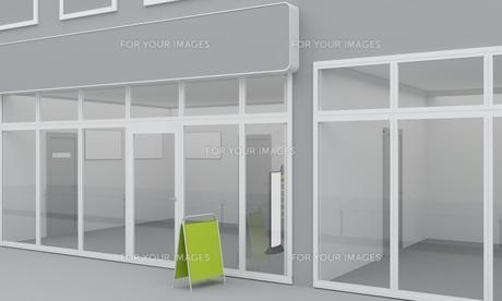 Illustration of shop or office facade. Exteriorの写真素材 [FYI00776734]