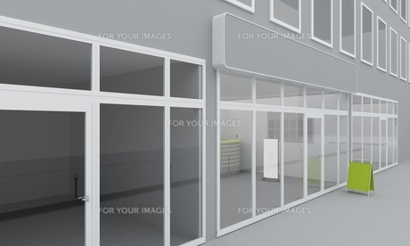 Illustration of shop or office facade. Exteriorの写真素材 [FYI00776746]