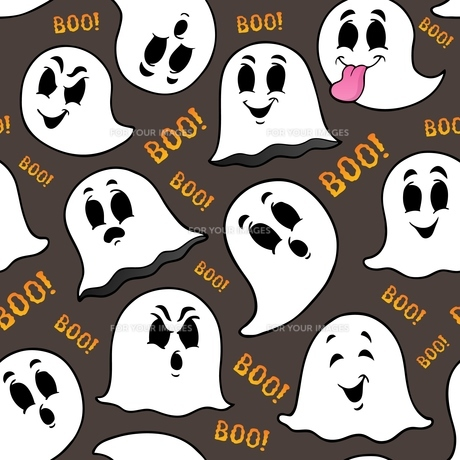 Seamless background with ghosts 2の写真素材 [FYI00776780]