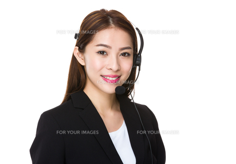 Customer services representativeの写真素材 [FYI00777164]