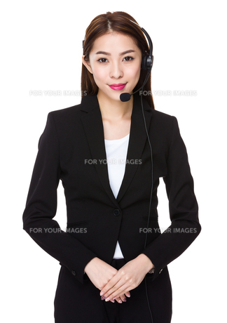 Customer services assistantの写真素材 [FYI00777178]