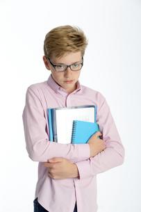 Grumpy school boyの素材 [FYI00777376]