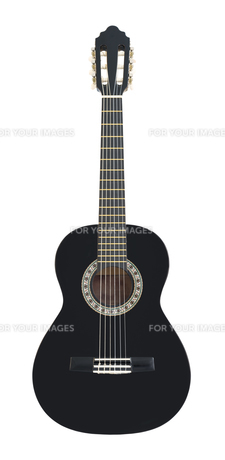 Classical Acoustic Guitar Isolated on a White Backgroundの素材 [FYI00777467]