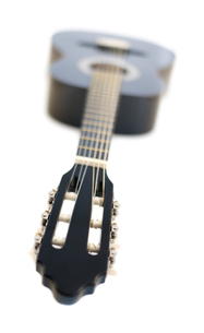 Classical Acoustic Guitar Isolated on a White Backgroundの素材 [FYI00777469]
