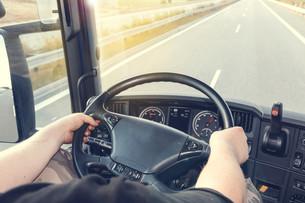 Truck drivingの写真素材 [FYI00777476]