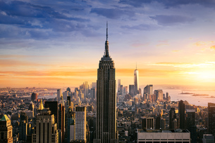 New York City skylineの写真素材 [FYI00777524]