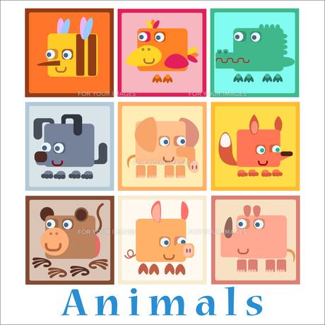 Set animals baby styleの写真素材 [FYI00777771]
