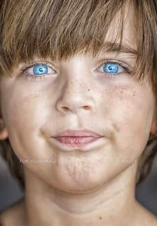 insightful look blue eyes boyの素材 [FYI00777803]