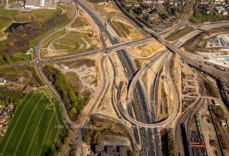 bochum westkreuz,a40,b1,highway,building site,br ckenbauwerk,country roads nrw,bochum stahlhausenの素材 [FYI00778011]