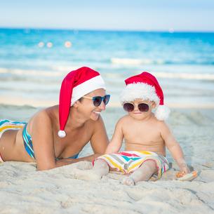 Christmas tropicalの写真素材 [FYI00778101]