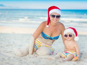 Christmas tropicalの写真素材 [FYI00778118]