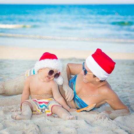 Christmas tropicalの写真素材 [FYI00778123]