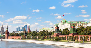 panoramic view Moskva River, Kremlin, Moscow Cityの写真素材 [FYI00778145]