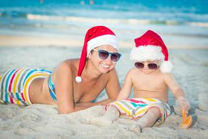 Christmas tropicalの写真素材 [FYI00778150]