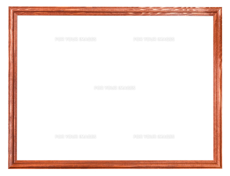 narrow wooden painted picture frame isolatedの写真素材 [FYI00778160]