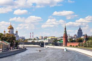 Bolshoy Kamenny Bridge on Moskva River, Moscowの写真素材 [FYI00778161]