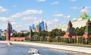 Moskva River, embankment, Kremlin, Moscow Cityの写真素材 [FYI00778163]