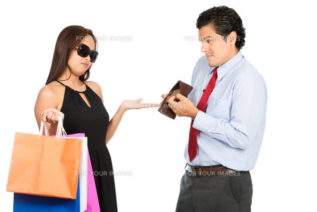 Wife Demanding No Money Poor Husband Shopping Hの写真素材 [FYI00778207]
