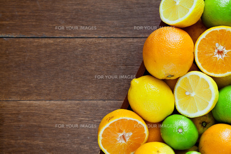 Bowl Of Citrus Fruitsの写真素材 [FYI00778371]