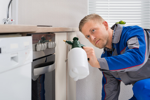 Worker With Pesticide Sprayerの写真素材 [FYI00778418]
