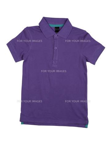 Purple polo shirt.の写真素材 [FYI00778885]