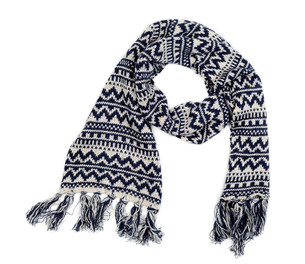 knitted scarfの素材 [FYI00778911]