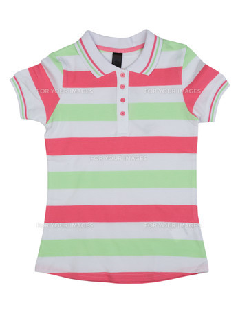 Striped polo shirtの写真素材 [FYI00778915]