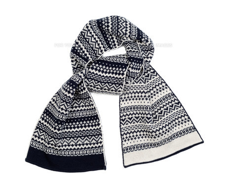 Striped knitted woollen scarfの素材 [FYI00778918]