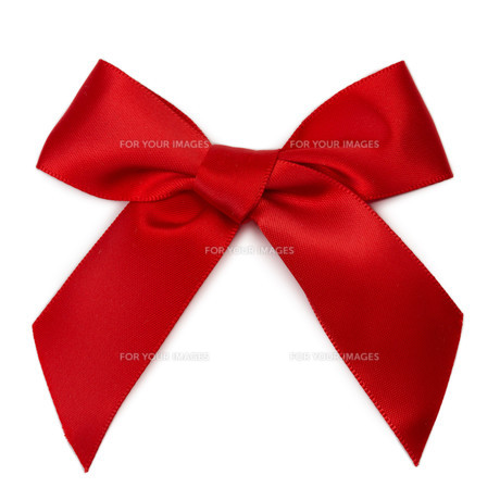 Bright red gift ribbonの写真素材 [FYI00778937]