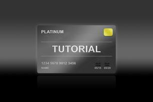 tutorial platinum cardの写真素材 [FYI00779237]
