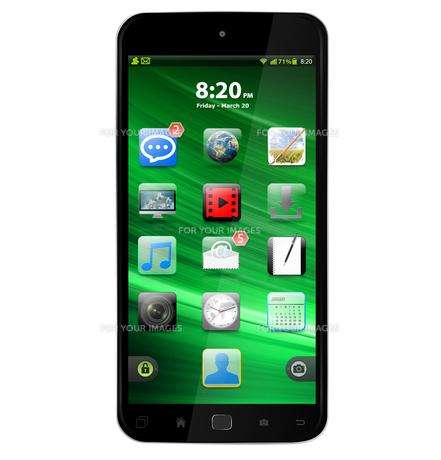Modern mobile phoneの写真素材 [FYI00779357]