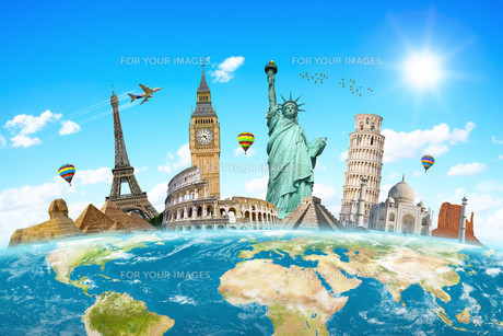 Famous monuments of the worldの写真素材 [FYI00779412]