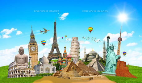 Famous monuments of the worldの写真素材 [FYI00779418]