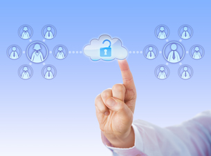 Unlocking Access To Two Work Teams Via Cloudの写真素材 [FYI00779428]