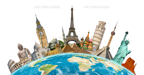 Famous monuments of the worldの写真素材 [FYI00779438]