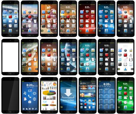 Modern mobile phoneの写真素材 [FYI00779461]