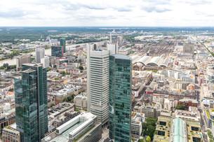 Aerial Frankfurt Germanyの写真素材 [FYI00779910]