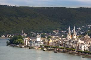 Boppard and river Rhineの写真素材 [FYI00779915]
